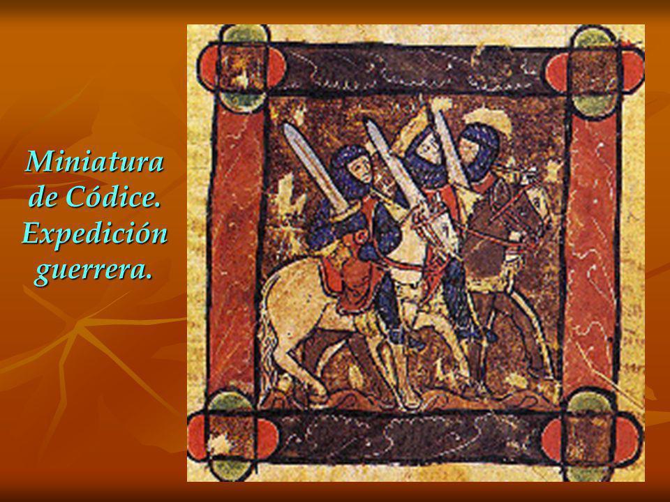 Miniatura de Códice. Expedición guerrera.