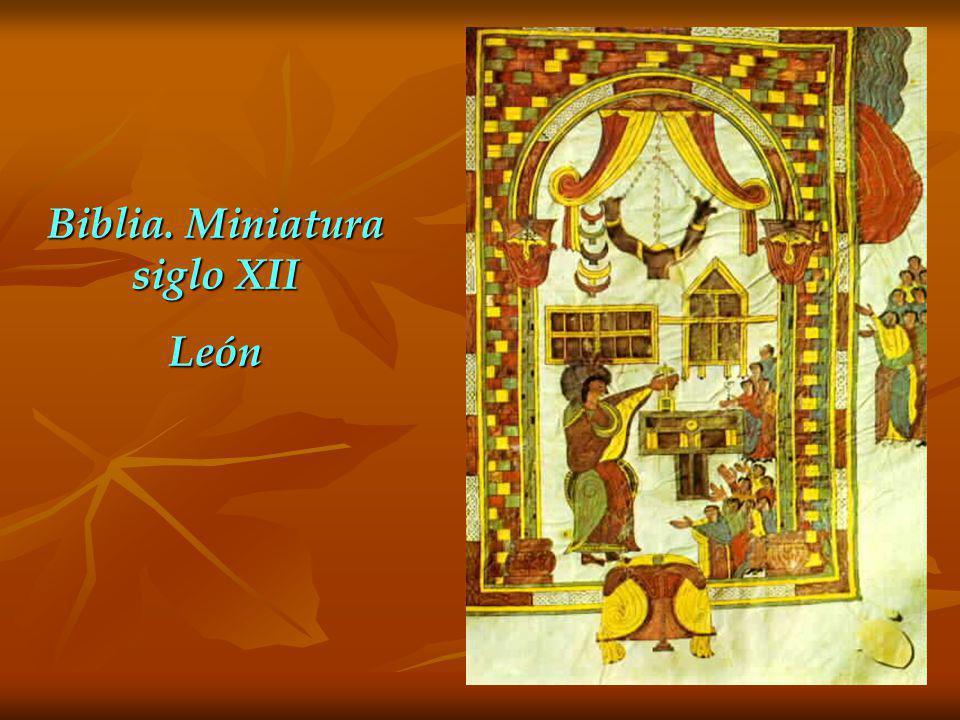 Biblia. Miniatura siglo XII León