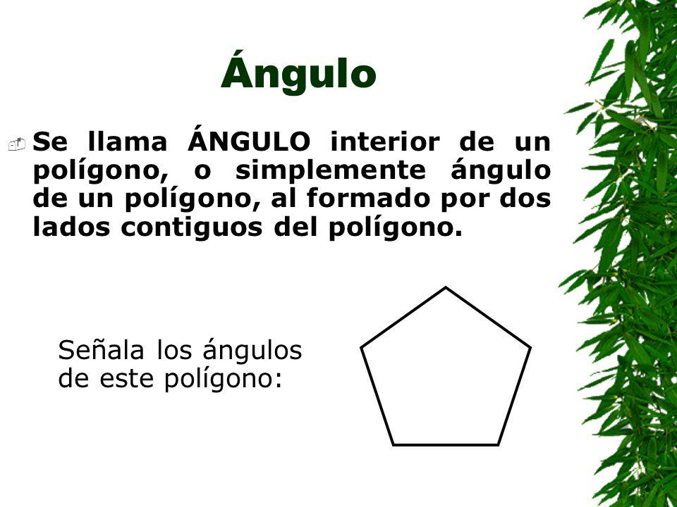 Diagonal Al segmento que une dos vértices no consecutivos de un polígono se le llama DIAGONAL.