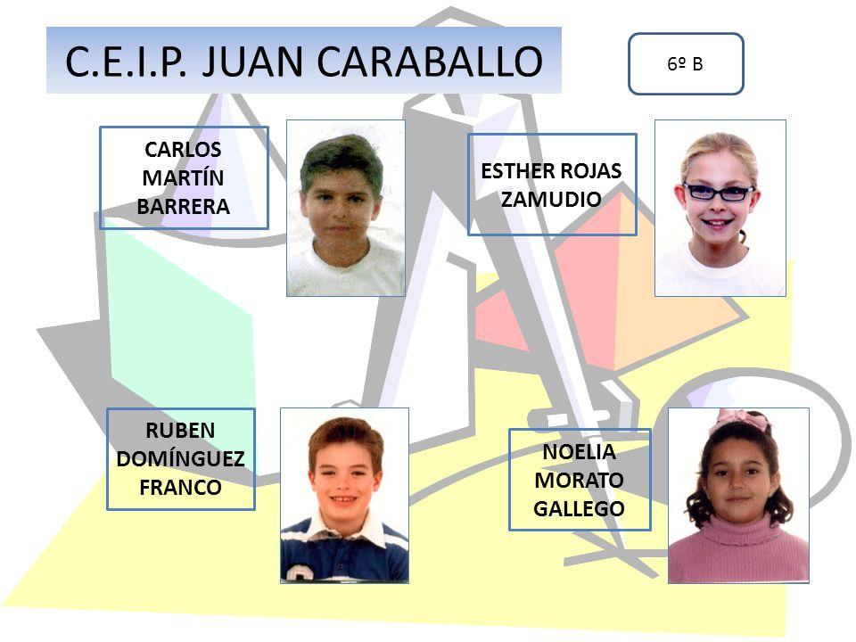 CARLOS MARTÍN BARRERA RUBEN DOMÍNGUEZ FRANCO C.E.I.P. JUAN CARABALLO 6º B ESTHER ROJAS ZAMUDIO NOELIA MORATO GALLEGO