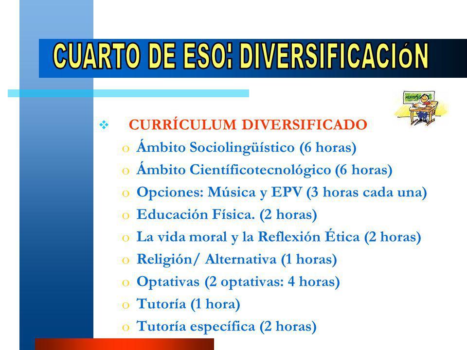ESTRUCTURA oÁoÁrea de Formación Profesional (12-15 horas semanales).