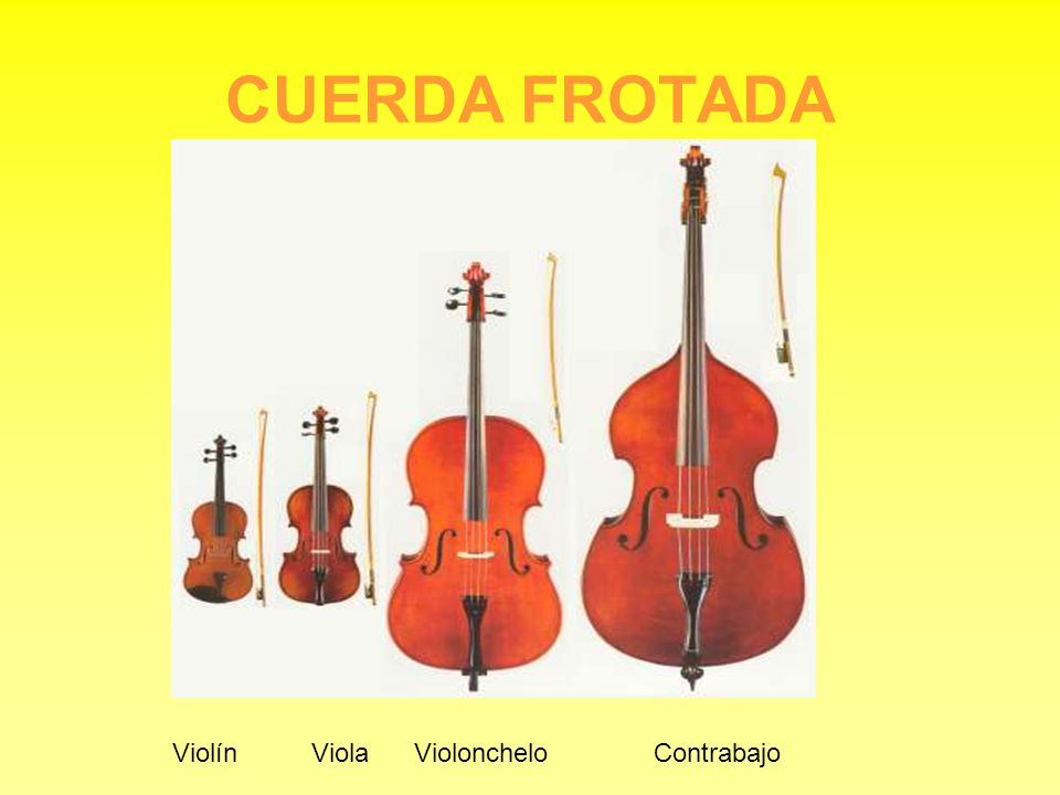 CUERDA FROTADA Violín Viola Violonchelo Contrabajo