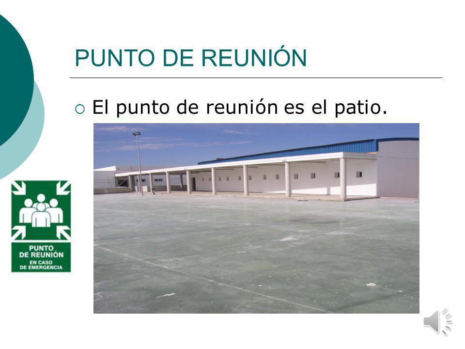 SALIDAS DE EMERGENCIA Las SALIDA DE EMERGENCIA empleadas serán las puertas que dan al patio, para facilitar la entrada de las emergencias por la puert