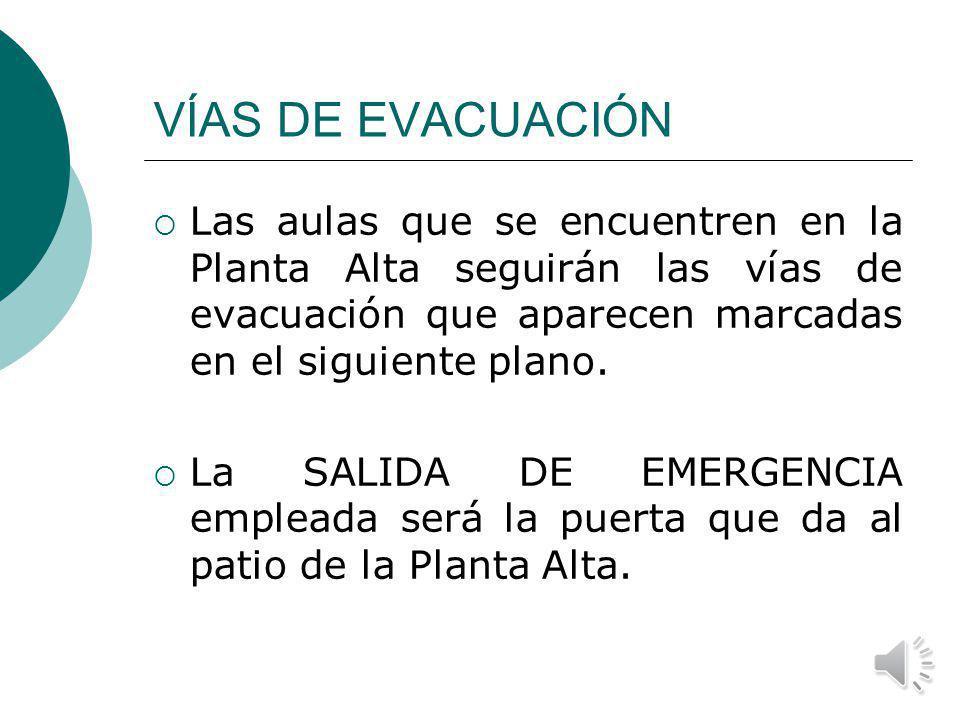 SEÑAL DE ALARMA La señal de alarma del Instituto es la SIRENA Cuando suene la SIRENA hay que evacuar el Centro