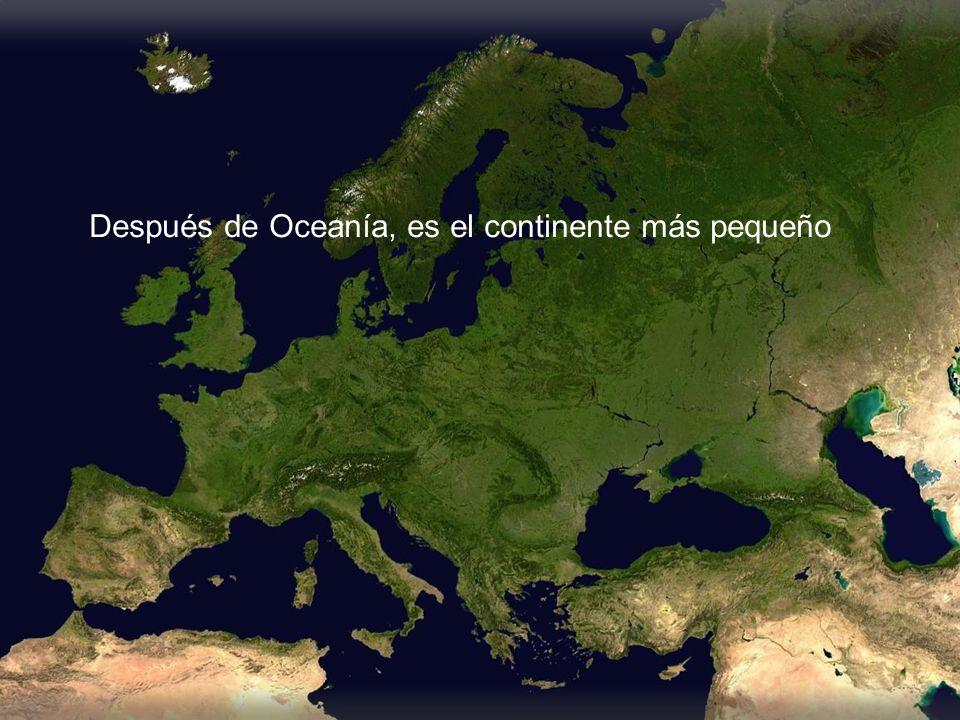 Después de Oceanía, es el continente más pequeño