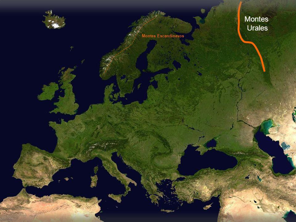 Llanura de la Europa oriental Pirineos Alpes Cárpatos Cáucaso Balcanes Montes Escandinavos Montes Urales Macizos y mesetas Llanura atlántica Llanura báltica Llanura central Apeninos Alpes Dináricos
