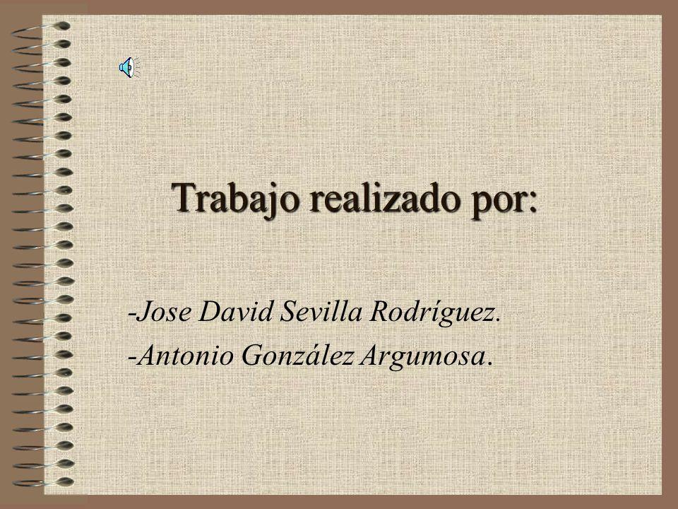 Trabajo realizado por: -Jose David Sevilla Rodríguez. -Antonio González Argumosa.