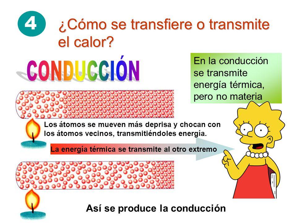 4 ¿Cómo se transfiere o transmite el calor.