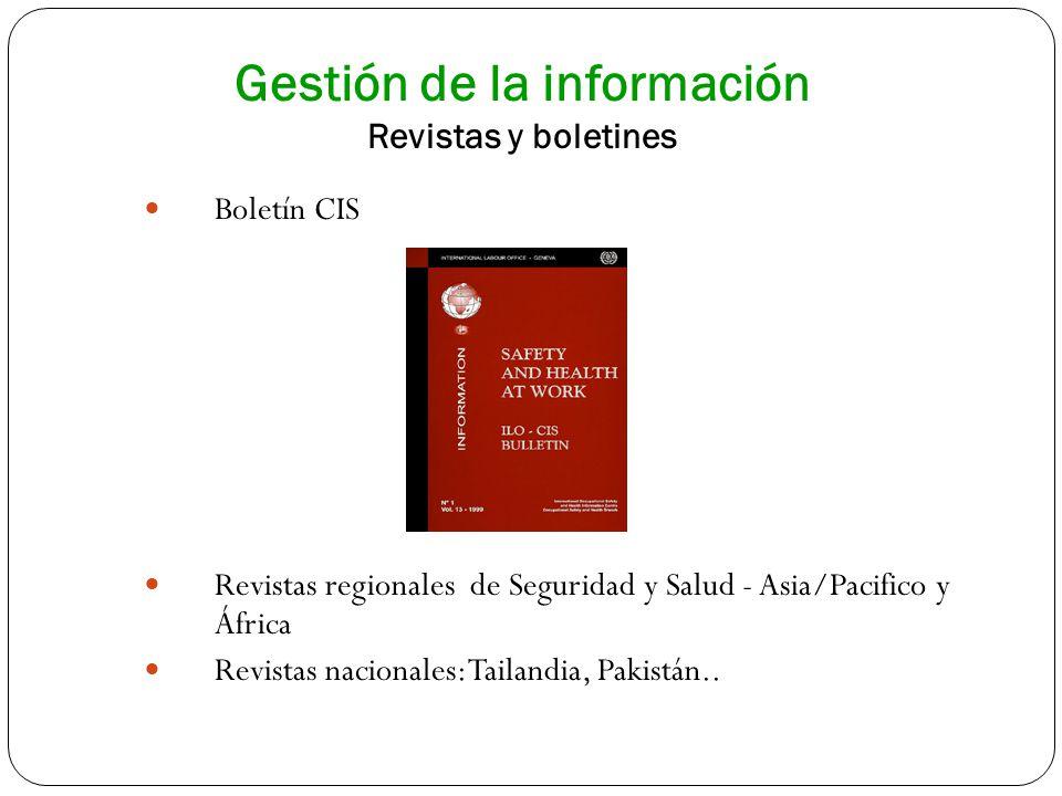 Gestión de la información Revistas y boletines Boletín CIS Revistas regionales de Seguridad y Salud - Asia/Pacifico y África Revistas nacionales: Tail