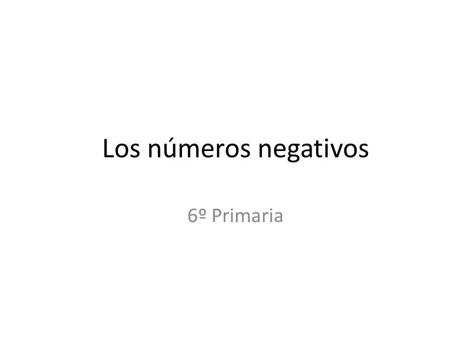 Los números negativos 6º Primaria