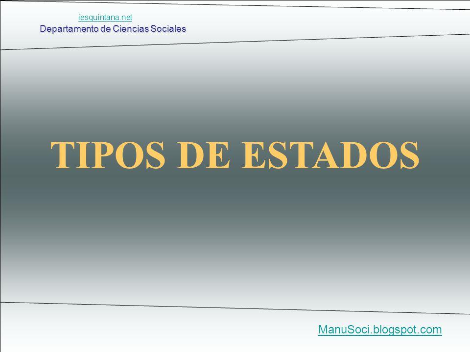Departamento de Ciencias Sociales ManuSoci.blogspot.com TIPOS DE ESTADOS iesquintana.net