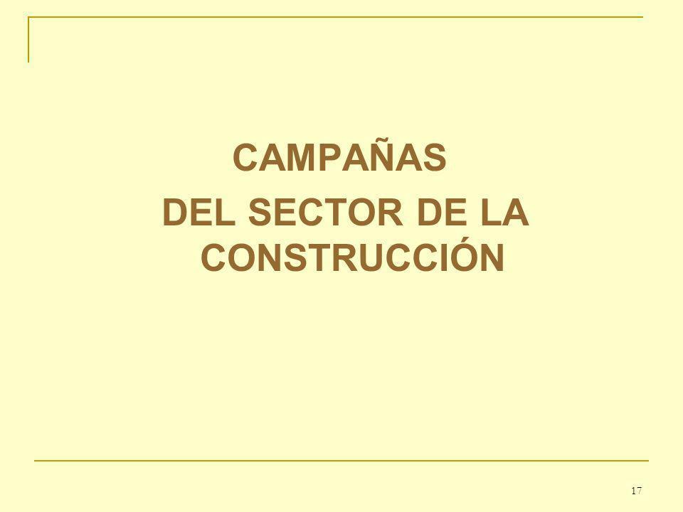 CAMPAÑAS DEL SECTOR DE LA CONSTRUCCIÓN 17