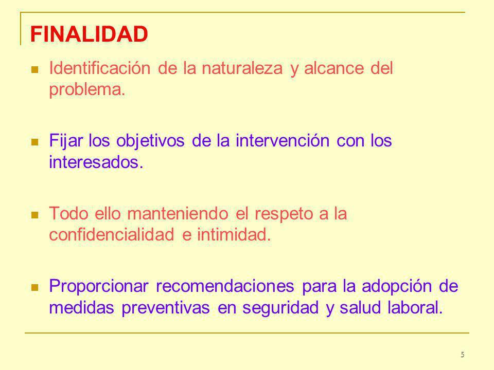 FINALIDAD 5 Identificación de la naturaleza y alcance del problema.