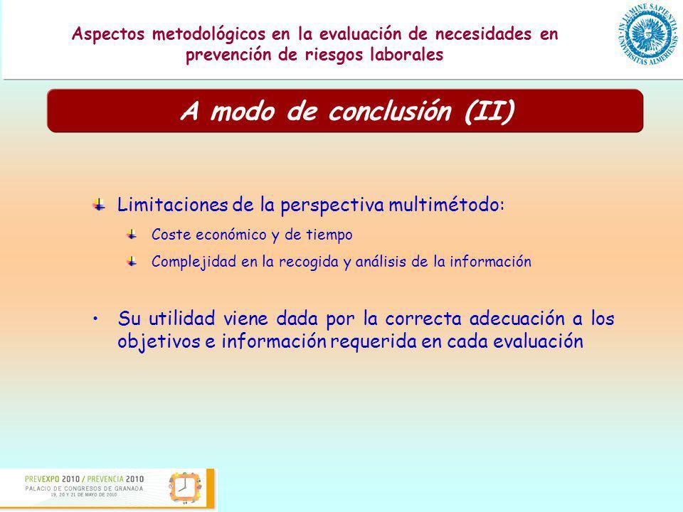 Presentación de una guía para la evaluación de los programas formativos en prevención de riesgos laborales Aspectos metodológicos en la evaluación de necesidades en prevención de riesgos laborales