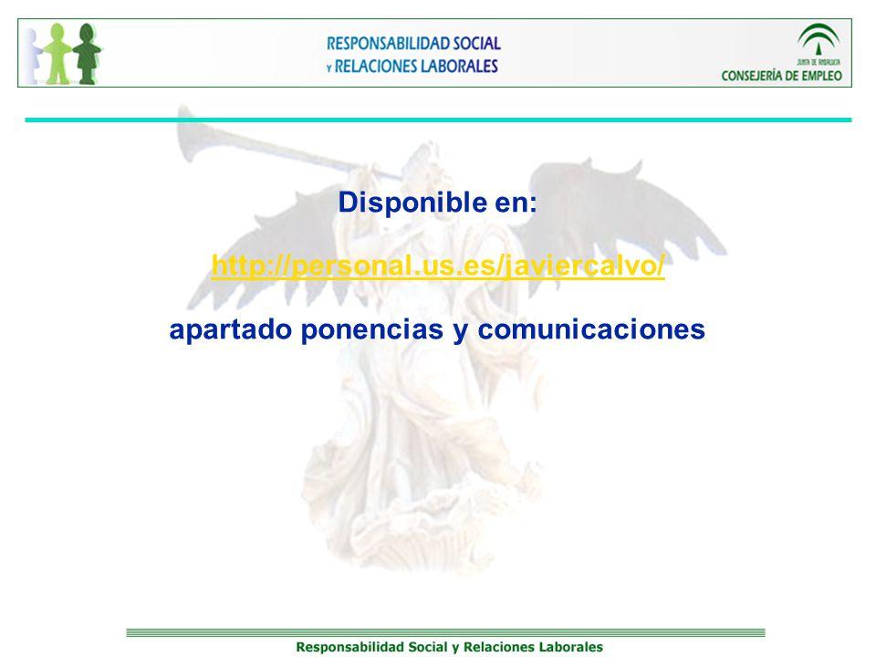 Disponible en: http://personal.us.es/javiercalvo/ apartado ponencias y comunicaciones http://personal.us.es/javiercalvo/