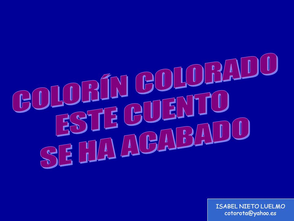 ISABEL NIETO LUELMO cotorota@yahoo.es
