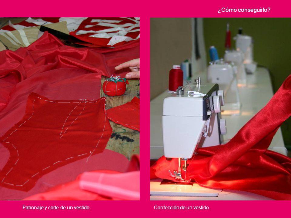 Confección de un vestido. ¿Cómo conseguirlo? Patronaje y corte de un vestido.