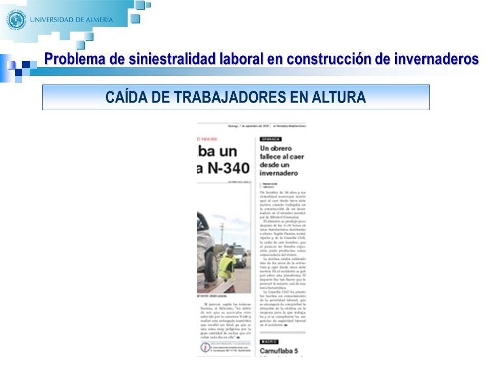 10 Identificación y evaluación de riesgos laborales de los procedimientos constructivos de los invernaderos: RELACIÓN DE PUESTOS DE TRABAJO 1.