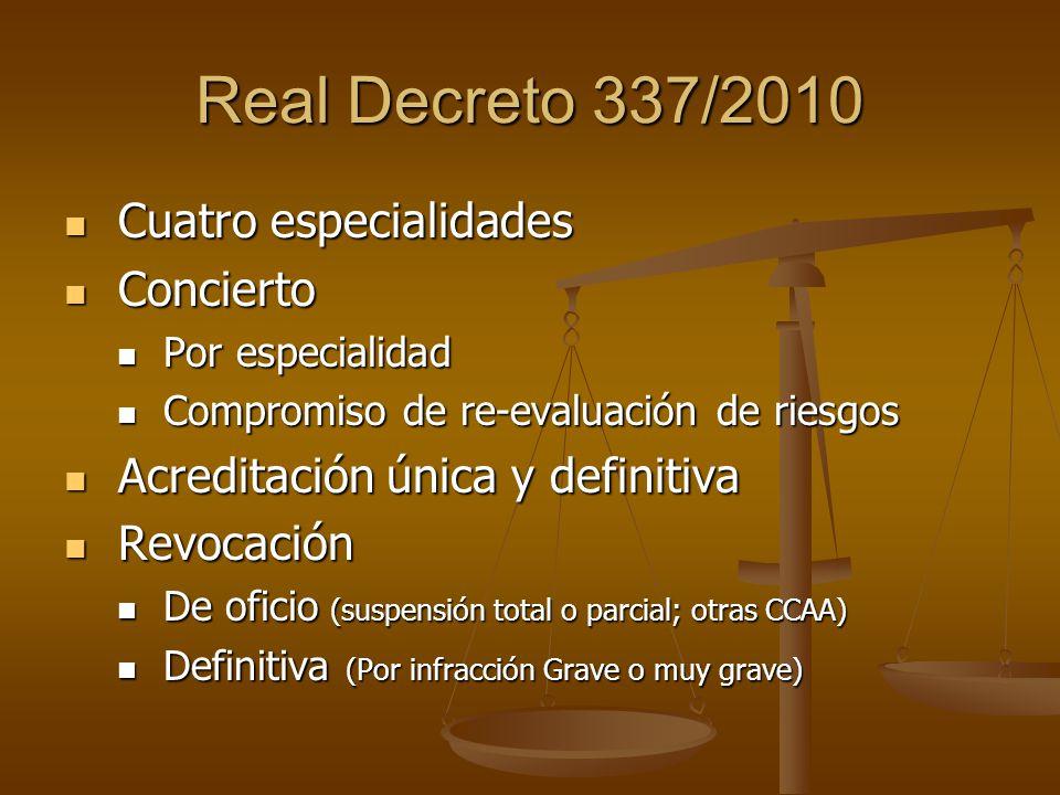 Acreditación por CCAA La Estrategia Española de Seguridad y Salud en el Trabajo en su objetivo 2.3 manifiesta que el área geográfica de actuación natural de un SPA es la Comunidad que lo acredita.
