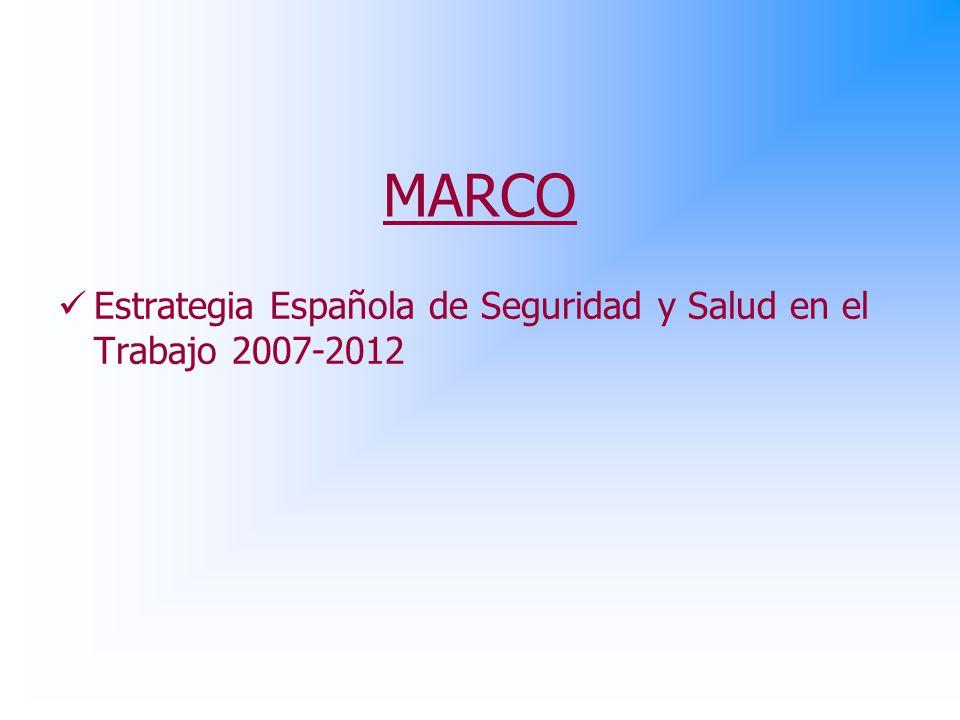 MARCO Estrategia Española de Seguridad y Salud en el Trabajo 2007-2012