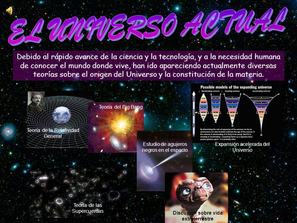 Aceleración de la expansión del Universo y Universo en expansión son términos con los que se designa el hecho de que el Universo se expande a una velocidad cada vez mayor.