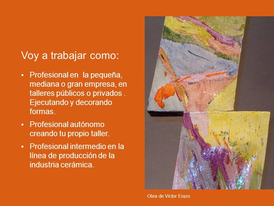 La producción de objetos (concepción).