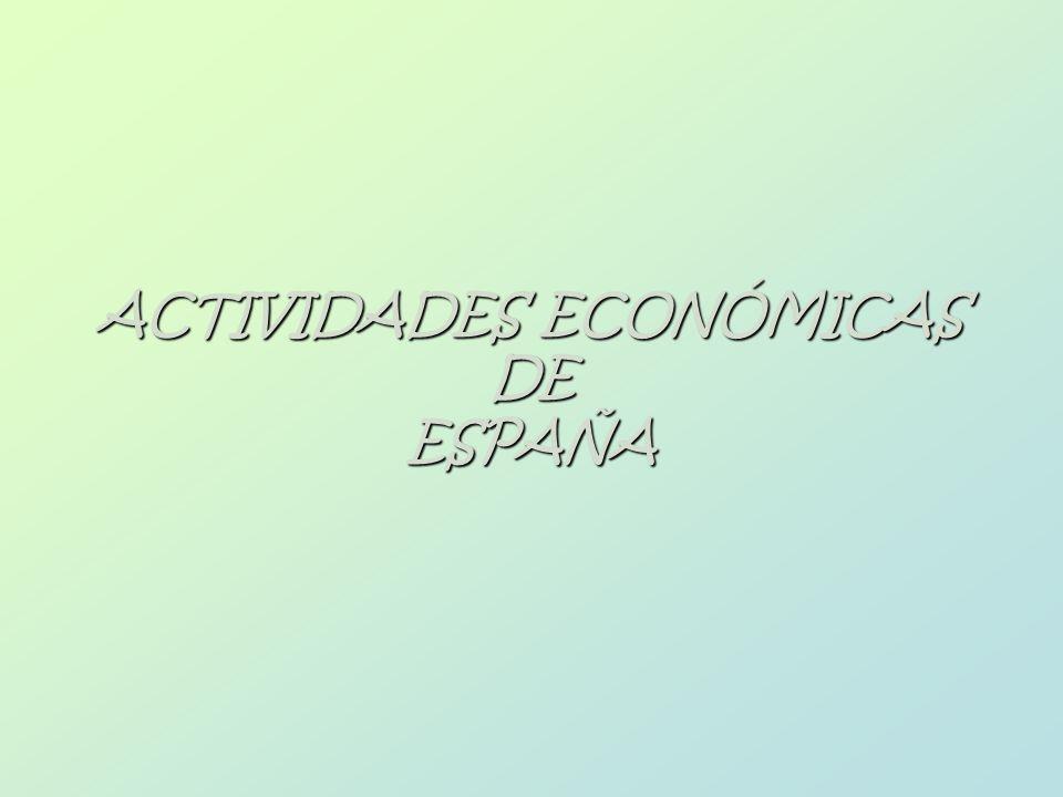 ACTIVIDADES ECONÓMICAS DE ESPAÑA