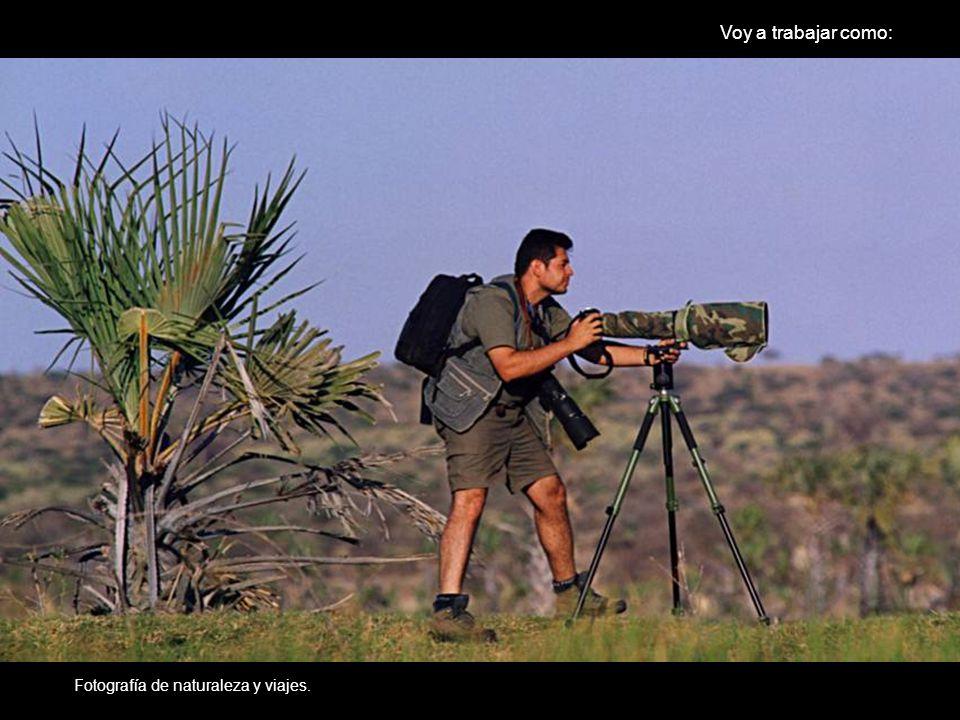DOS DE PUBLICI8DAD DE MIGUEL Fotografo naturaleza Fotografía de naturaleza y viajes. Voy a trabajar como: