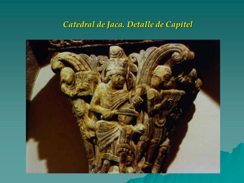 Catedral de Jaca. Detalle de Capitel