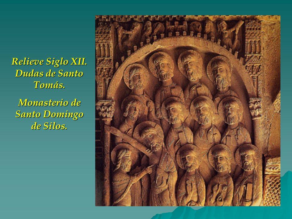 Relieve Siglo XII. Dudas de Santo Tomás. Monasterio de Santo Domingo de Silos.
