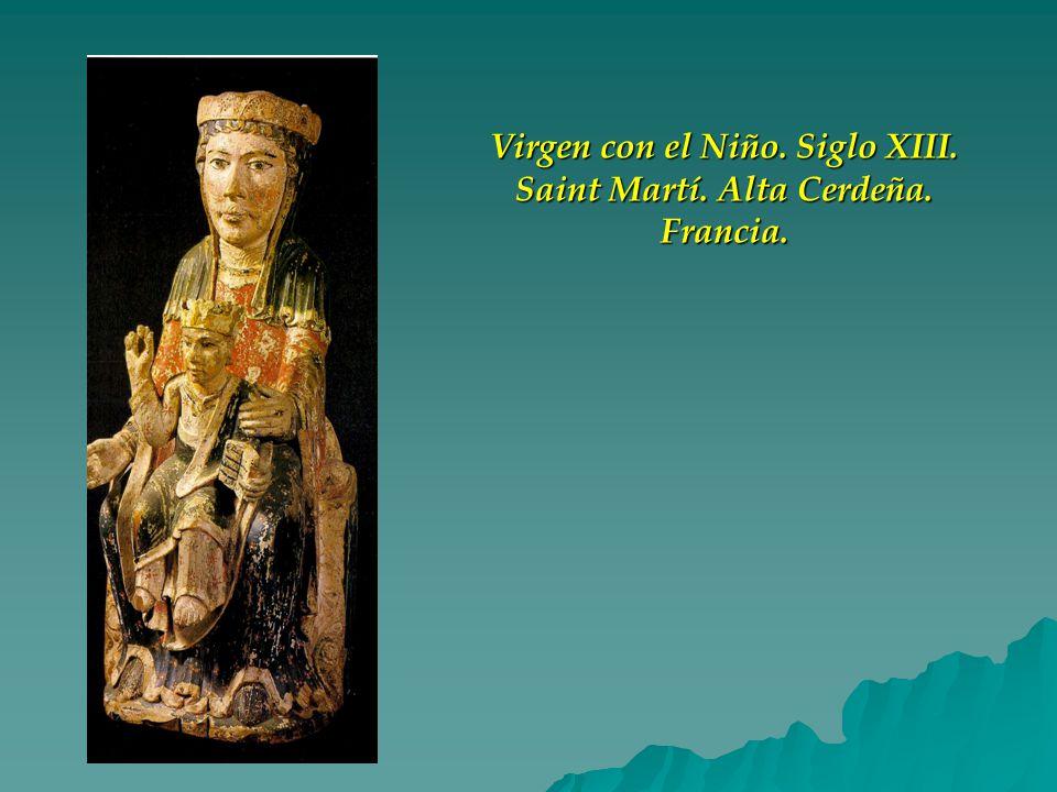 Virgen con el Niño. Siglo XIII. Saint Martí. Alta Cerdeña. Francia.