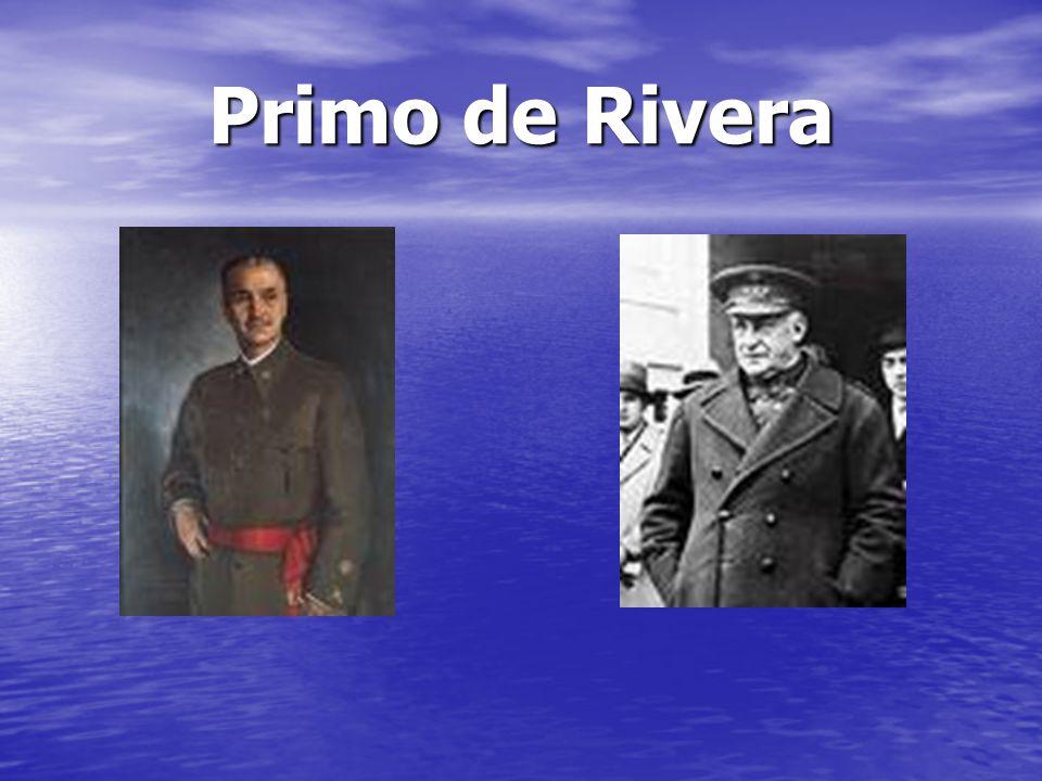 Dictadura de Primo de Rivera Tras la crisis económica de 1927 acentuada en 1929, la violenta represión de obreros e intelectuales y la falta de sintonía entre la burguesía y la dictadura, la monarquía, cómplice, será el objeto en cuestión a partir de la unión de toda la oposición en agosto de 1930 en el llamado Pacto de San Sebastián.