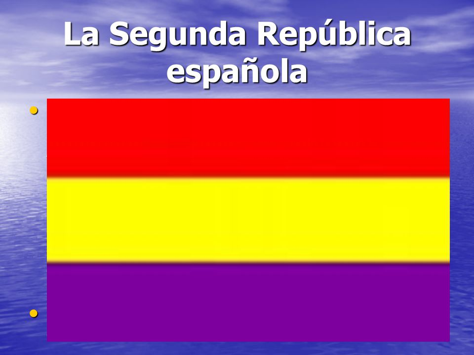 La Segunda República española La Segunda República se proclama el 14 de abril de 1931, después de la salida del país del rey Alfonso XIII, a la vista