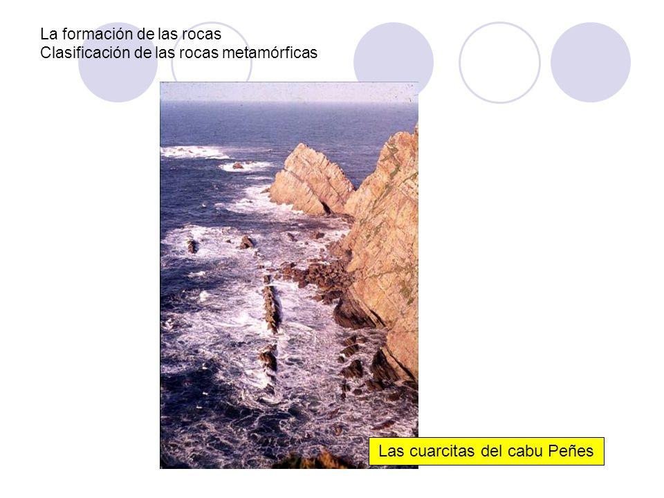La formación de las rocas Clasificación de las rocas metamórficas Las cuarcitas del cabu Peñes