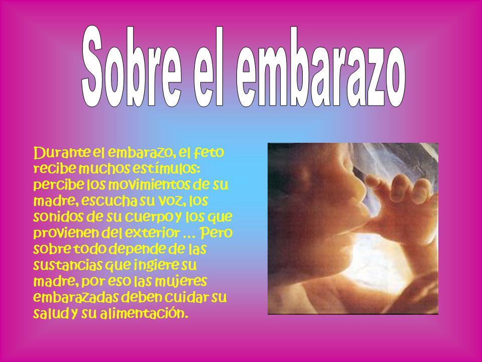 Durante el embarazo, el feto recibe muchos estímulos: percibe los movimientos de su madre, escucha su voz, los sonidos de su cuerpo y los que proviene