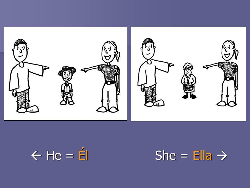 He = ÉlShe = Ella He = ÉlShe = Ella