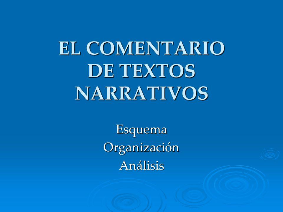 COMENTARIO DE TEXTOS NARRATIVOS I.INTRODUCCIÓN I.