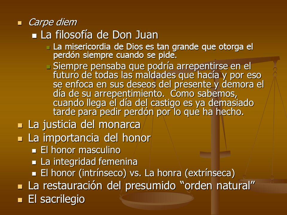 Carpe diem Carpe diem La filosofía de Don Juan La filosofía de Don Juan La misericordia de Dios es tan grande que otorga el perdón siempre cuando se p