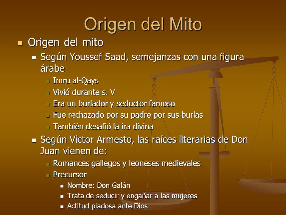 Origen del Mito Origen del mito Origen del mito Según Youssef Saad, semejanzas con una figura árabe Según Youssef Saad, semejanzas con una figura árab