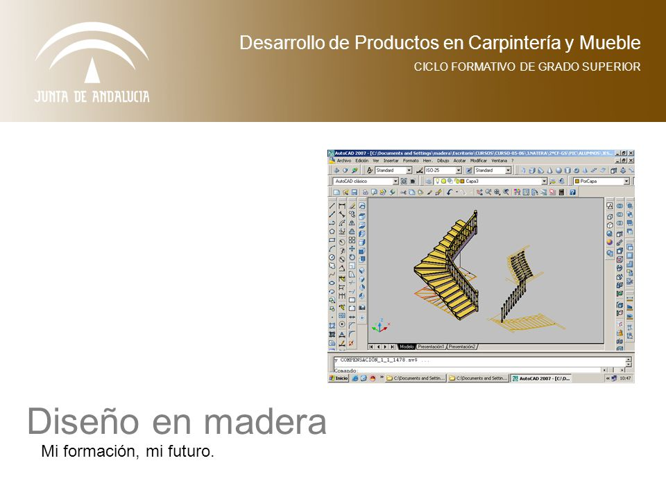 Desarrollo de Productos en Carpintería y Mueble CICLO FORMATIVO DE GRADO SUPERIOR Diseño en madera Mi formación, mi futuro.