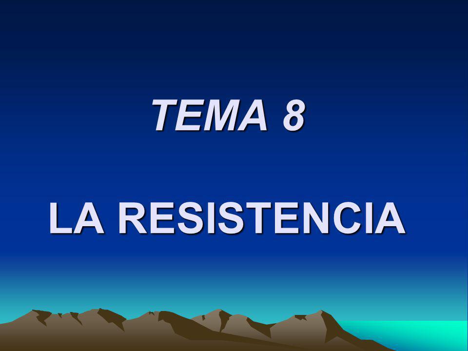 TEMA 8 LA RESISTENCIA