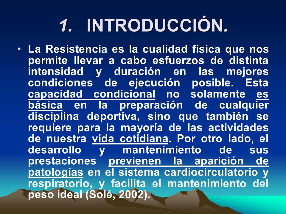 2. LA RESISTENCIA COMO CAPACIDAD FÍSICA BÁSICA.