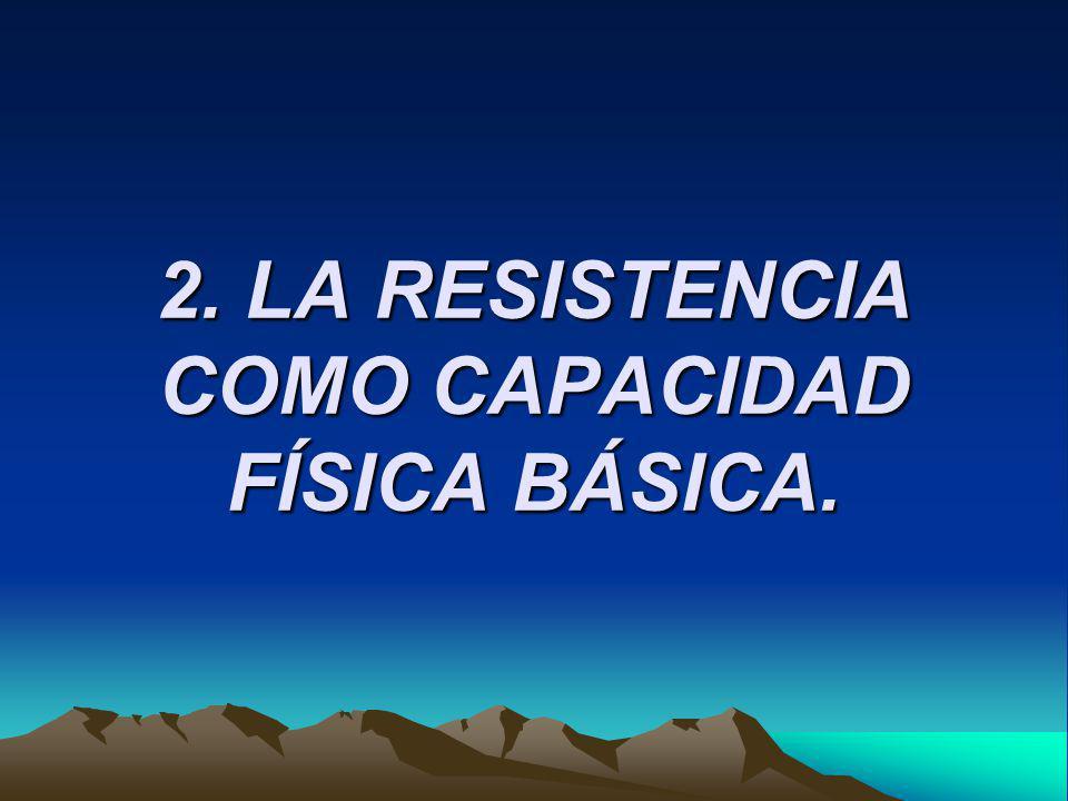 Actualmente, las últimas tendencias a este respecto se orientan en la siguiente dirección (Párraga, 2002): Cualidades físicas básicas o primarias, también denominadas condicionales y que son: la resistencia, la fuerza y la amplitud de movimiento.
