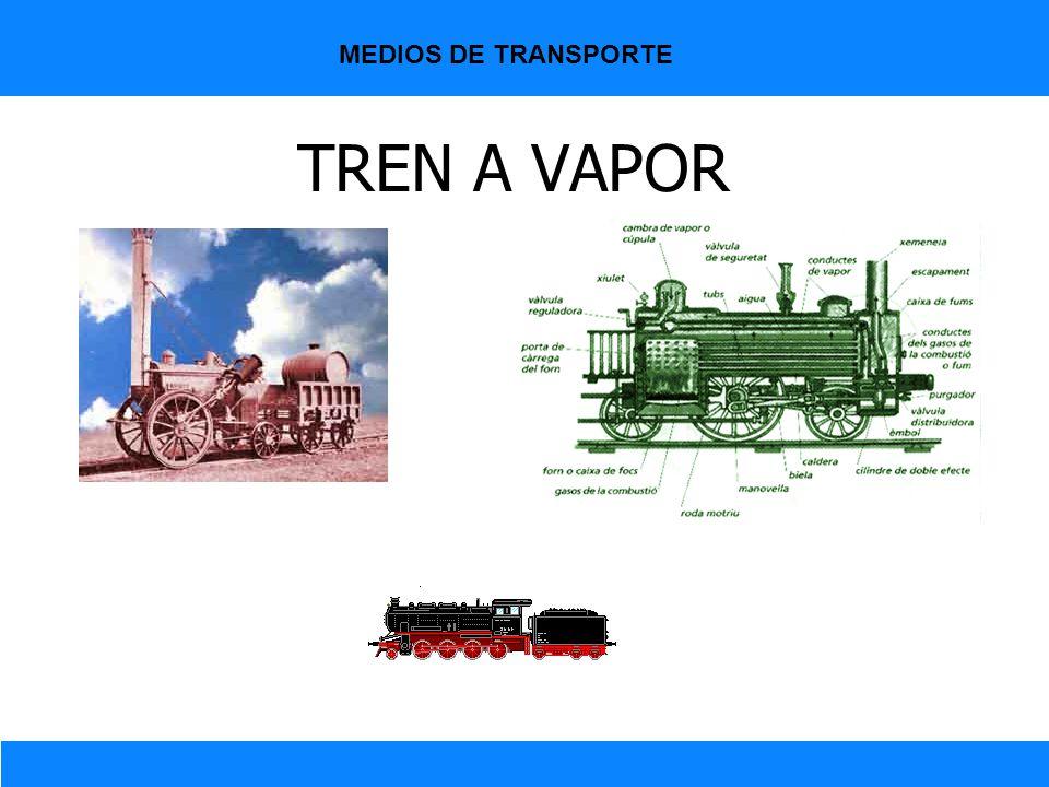 TREN A VAPOR MEDIOS DE TRANSPORTE
