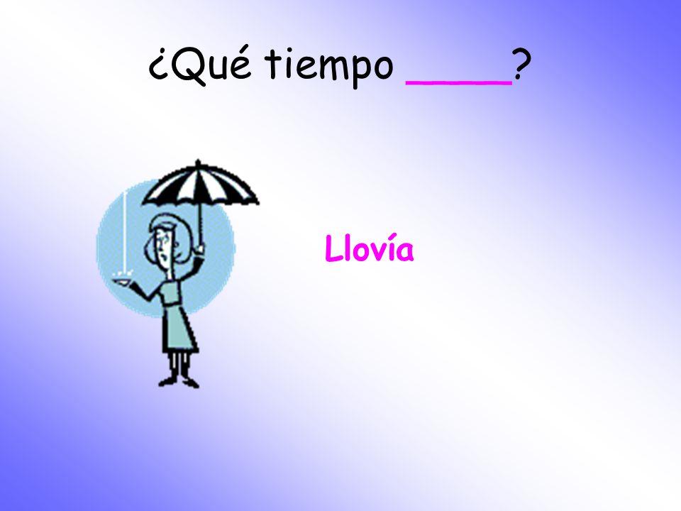 ¿Qué tiempo ____ Llovía