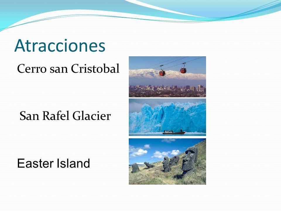 Atracciones Cerro san Cristobal San Rafel Glacier Easter Island