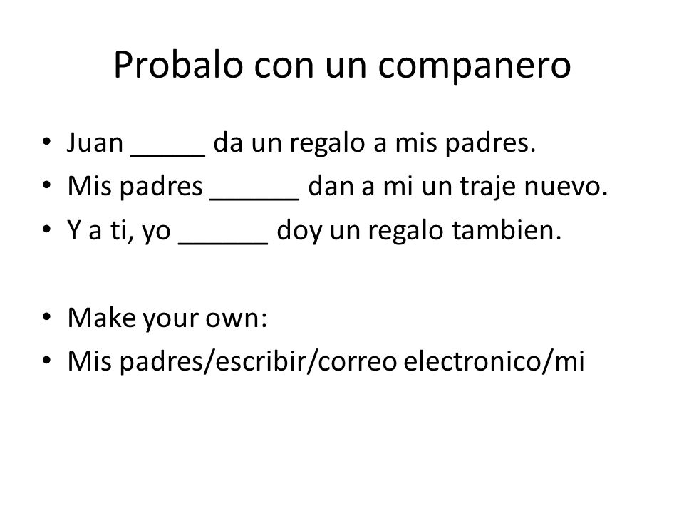 Tarea: homework Handout page 62. – Choose 1 or 2. – Do both and change a 0 quiz score to 100!