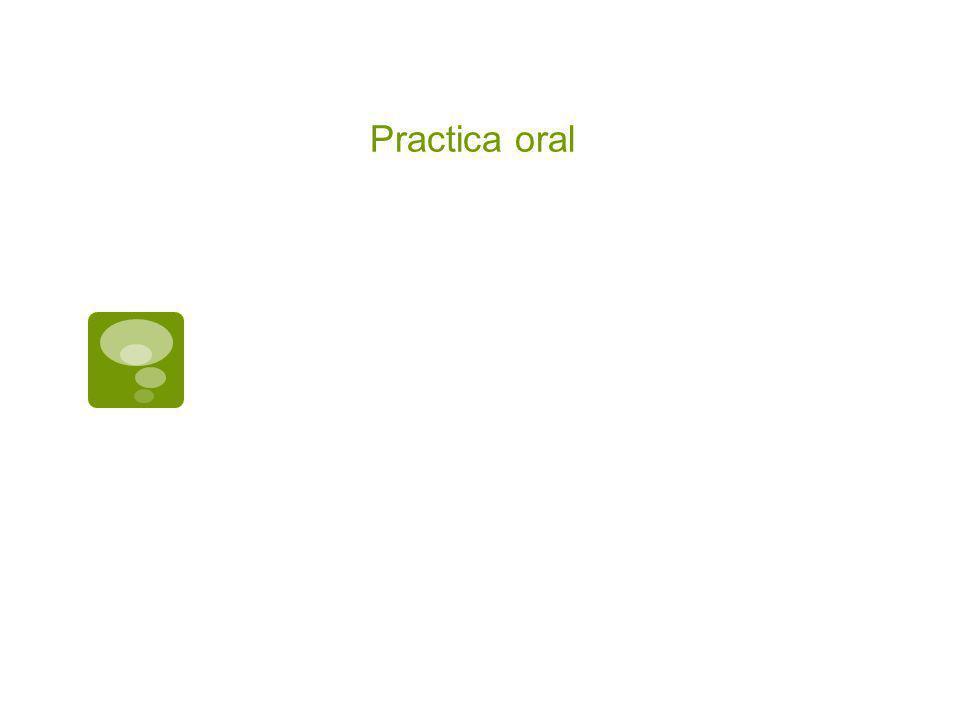 Practica oral
