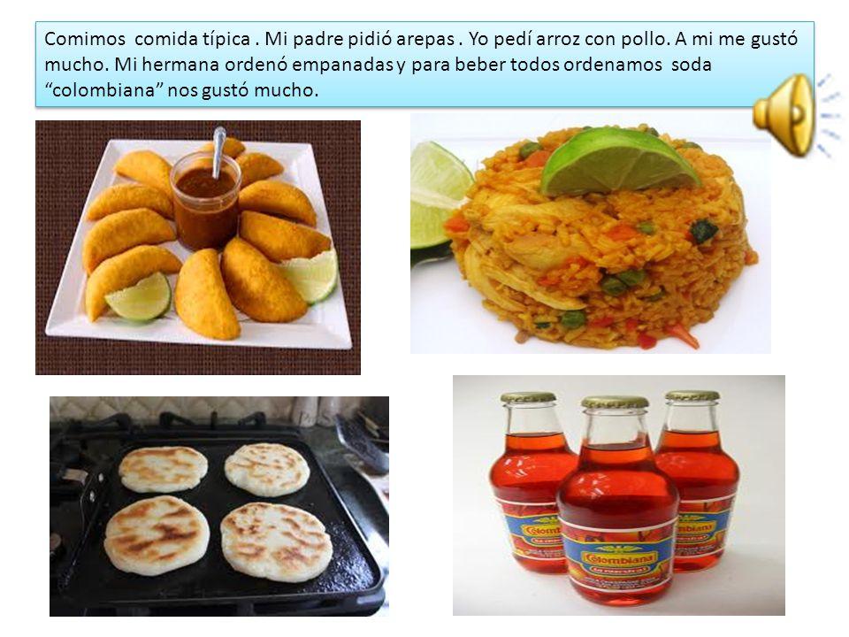 MIS ULTIMAS VACACIONES El segundo día: En Bogotá yo visité diferentes lugares como restaurantes de comida tradicional, el centro comercial Andino, el