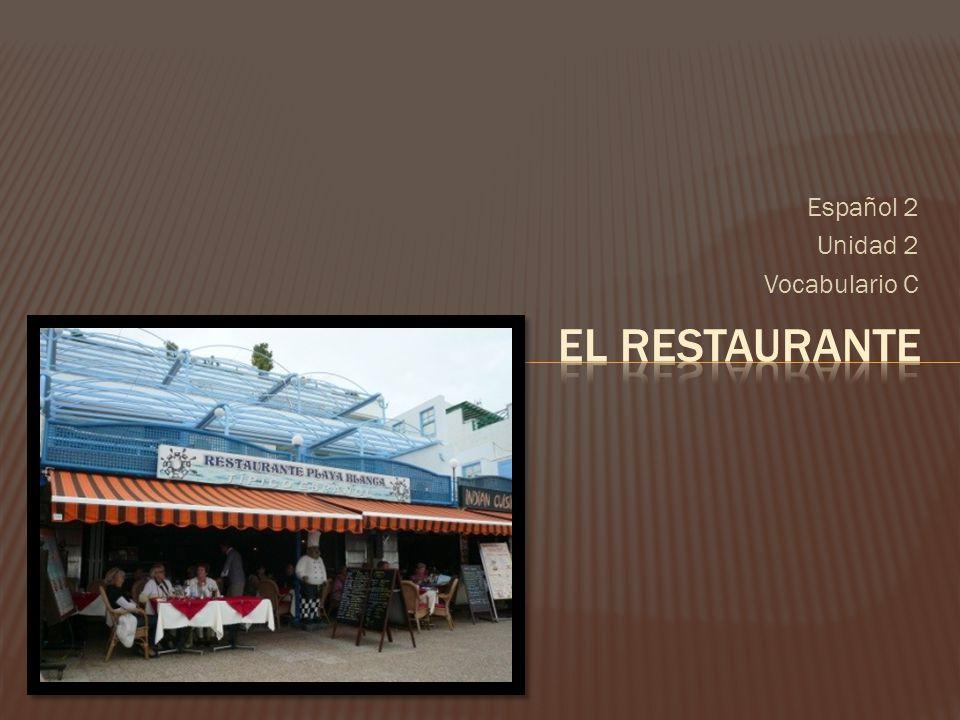 Español 2 Unidad 2 Vocabulario C